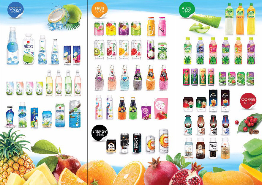 Category of RITA Beverage Viet Nam