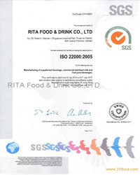 ISO for RITA juice company