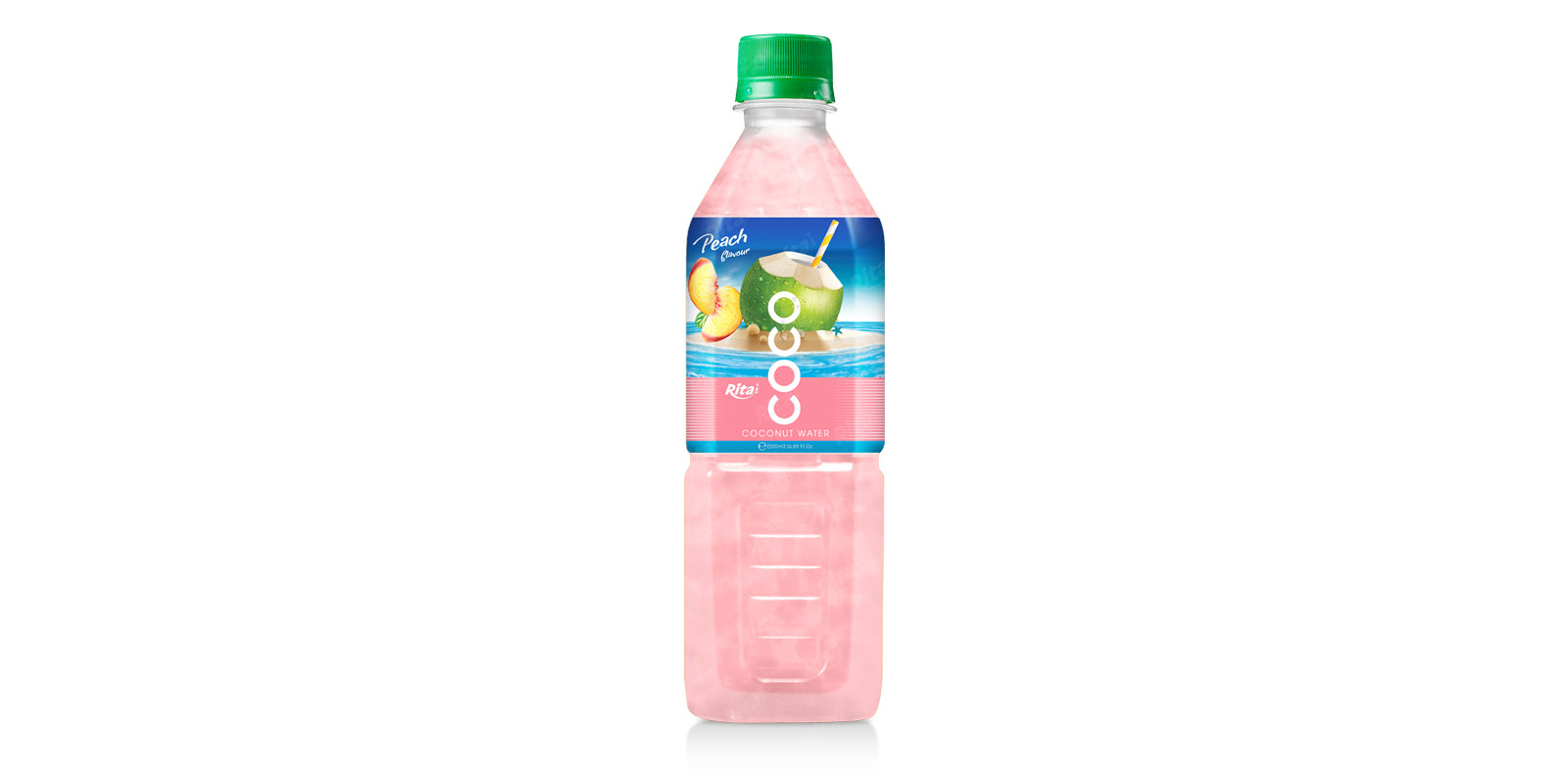 Coconut water with peach flavor  500ml Pet bottle