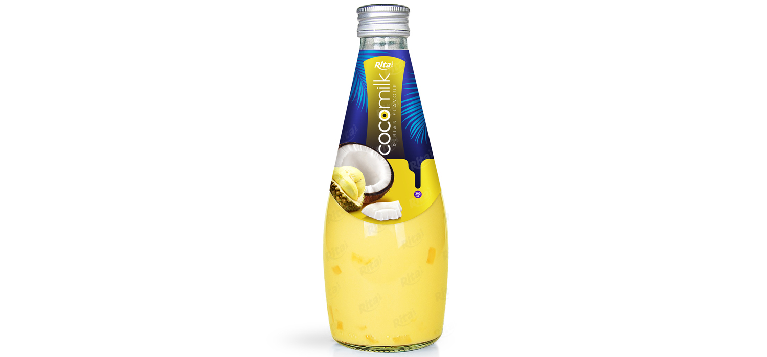 Coconut milk with durian flavor 290ml glass bottle