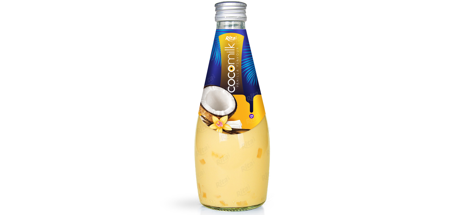 Coconut milk with vanilla flavor 290ml glass bottle