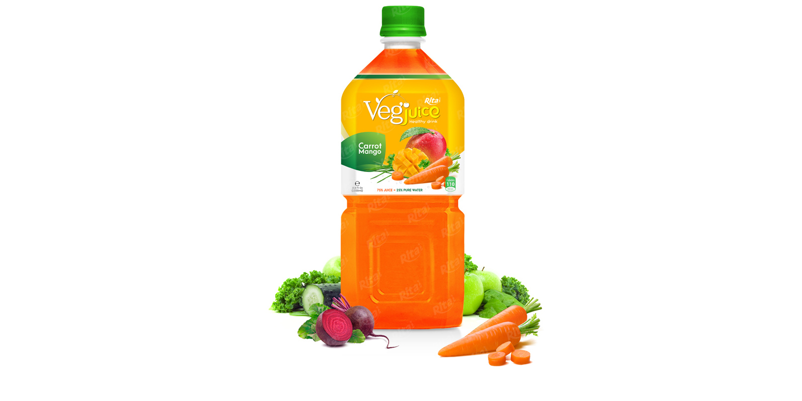 Rita vegetable carot mango 1000ml pet bottle