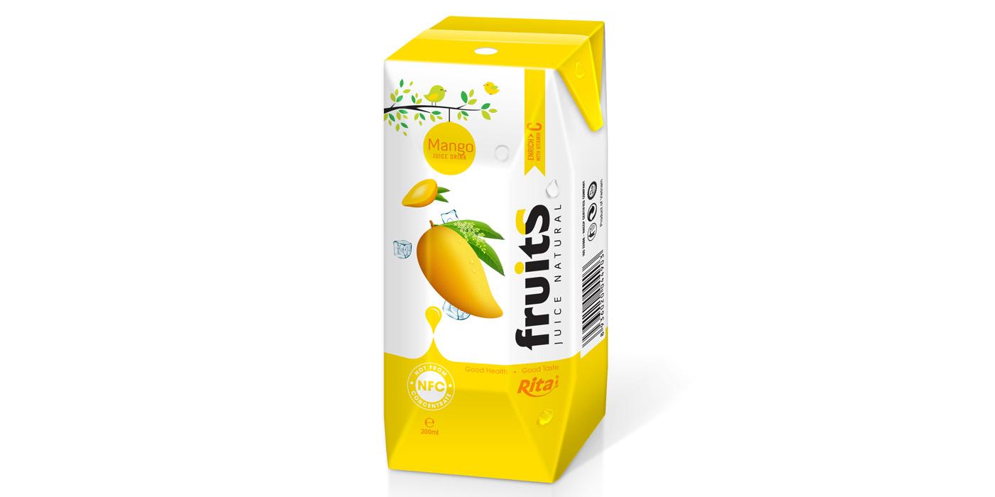 fresh mango juice aseptic packing 200ml