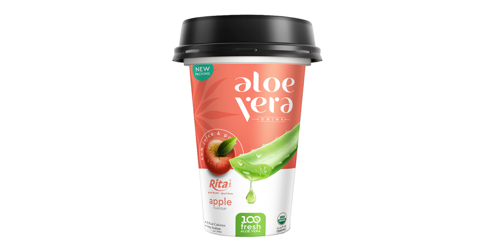 aloe vera with flavor apple