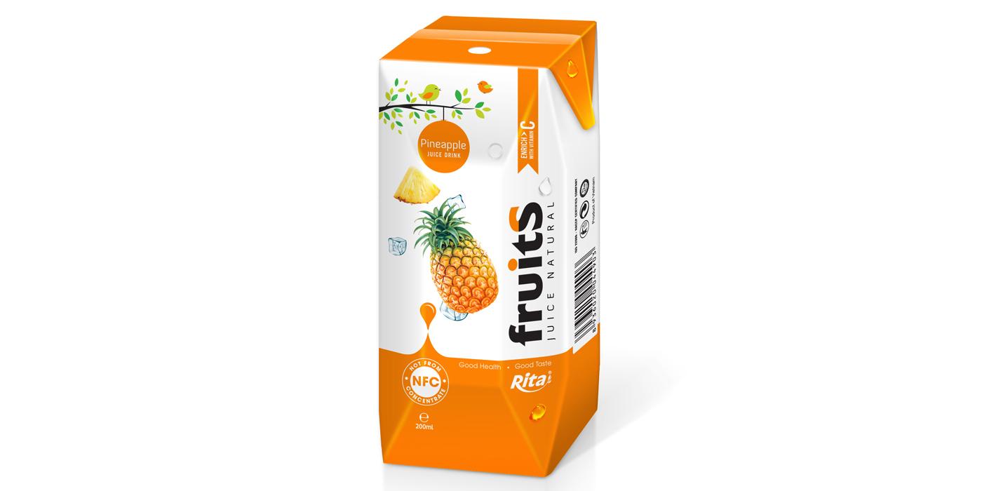 Pineapple juice aseptic 200ml