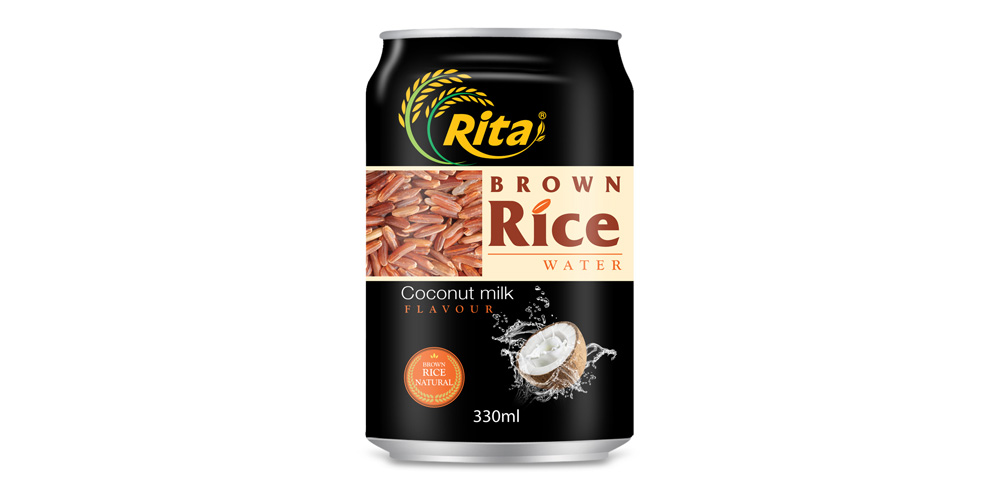 brown rice water with coconut milk