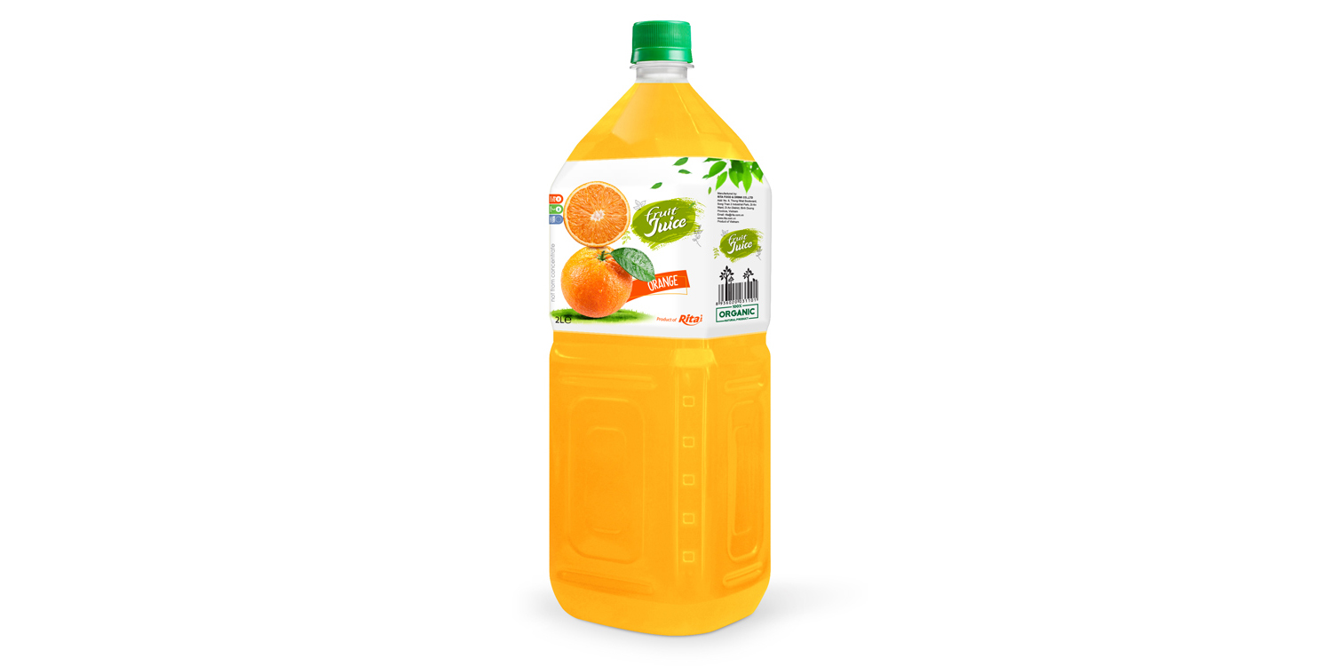 Fruit orange 2L pet water bottles