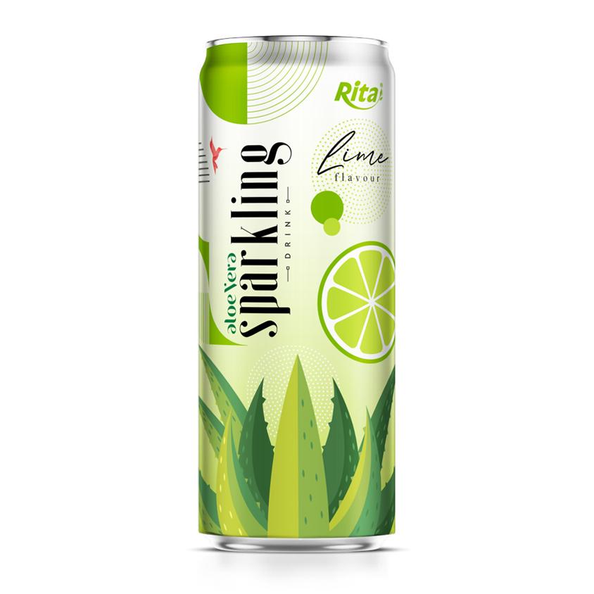wholesale aloe vera juice sparkling lime flavor drink