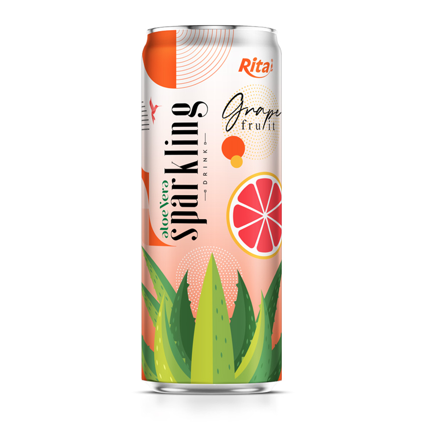 aloe vera juice sparkling grape fruit flvour drink own brand