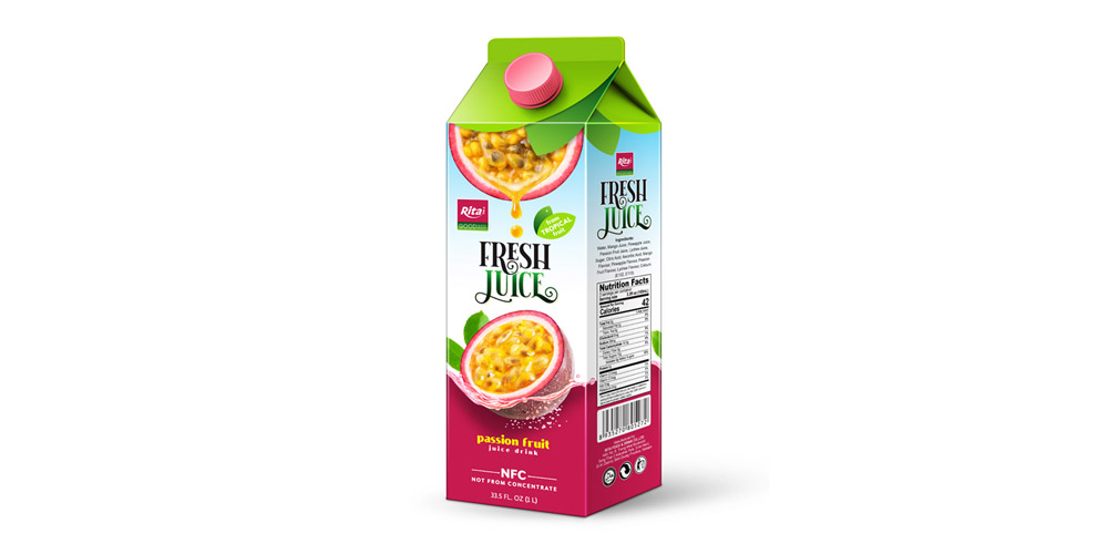 Wholesale 1L passion fruit  juice