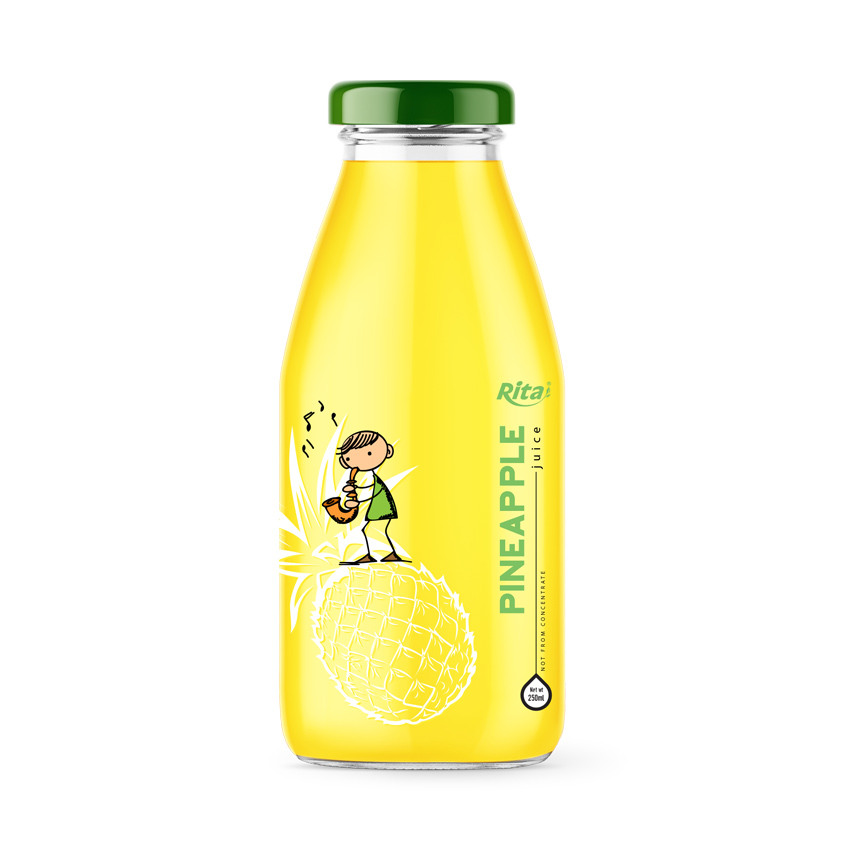 250ml glass bottle pineapple fruit juice