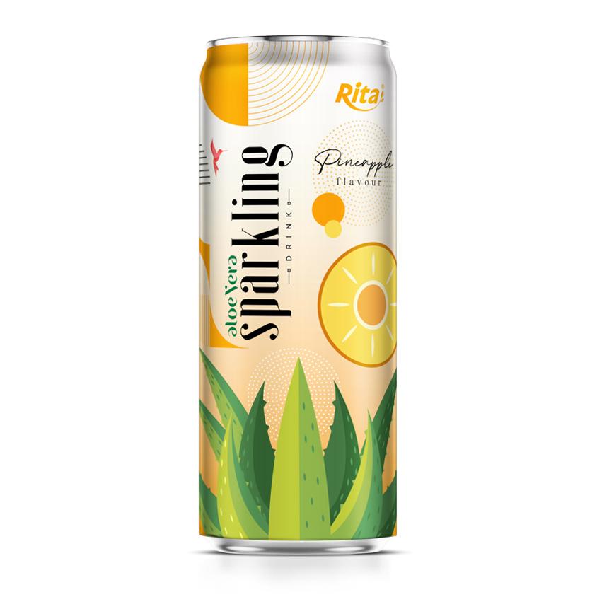 aloe vera juice sparkling pineapple flavor drink