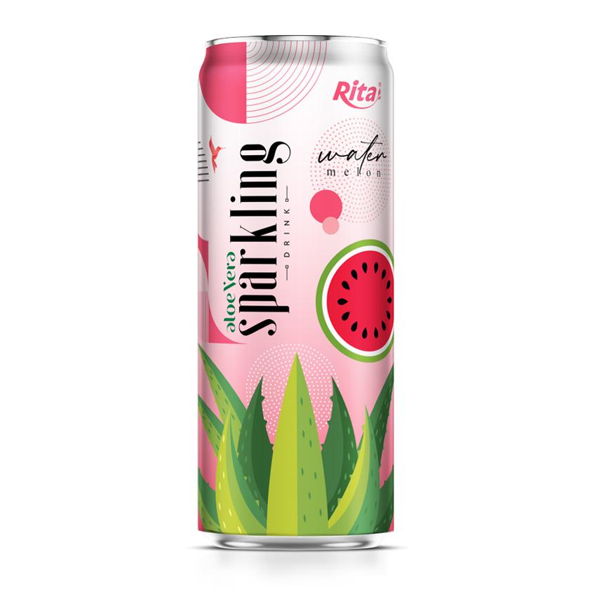 aloe vera juice sparkling watermelon flavor drink