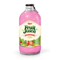 Strawberry fruit juice 340ml glass bottle from RITA US