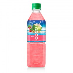 Coconut water with strawberry  flavor  500ml Pet bottle from RITA US