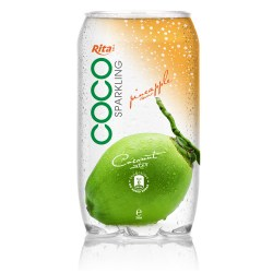 350ml Pet bottle   Sparking coconut water  with pineapple juice from RITA beverage