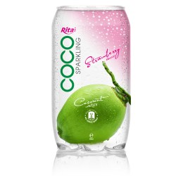 350ml  Pet bottle  Sparking coconut water  with strawberry juice from RITA beverage