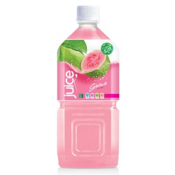 Natural pink guave juice drink 1000ml pet bottle from RITA US