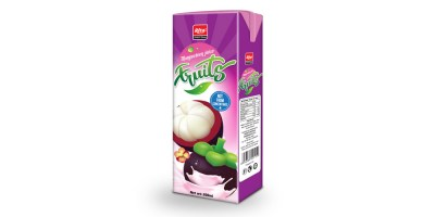 200ml Mangosteen juice in prisma pak from RITA US