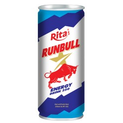 runbull energy 250ml tin can from RITA US