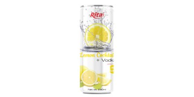 250ml slim Vodka lemon flavor from RITA US
