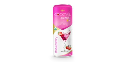 Cocktail 6% alcohol with strawberry flavour from RITA US
