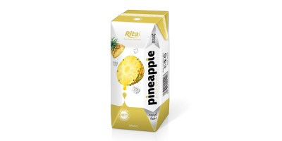 NFC fruit pineapple juice in prisma pak from RITA US