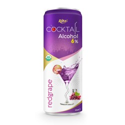 Cocktail 6% alcohol with red grape flavour 320ml from RITA US