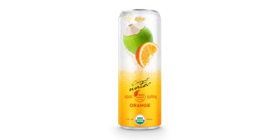 Coco Organic Sparkling with orange in 320ml can from RITA US