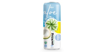 Private label brand Sparkling  aloe vera  coconut 320ml from RITA US