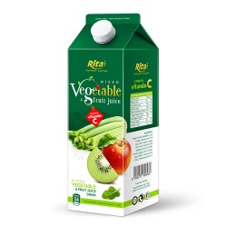 Mix tropical fruit juice with vegetable 1L Paper box