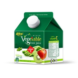 Mix tropical fruit juice with vegetable 350ml Paper box