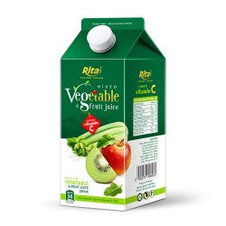 Mix tropical fruit juice with vegetable 750ml Paper box