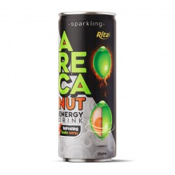 Sparkling Areca nut Energy drink refreshing awake energy 250ml slim cans