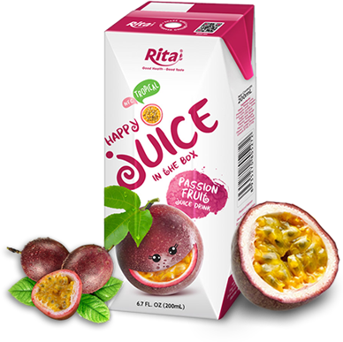 fresh juice passion fruit in paper box 200ml
