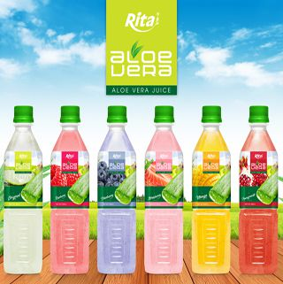 Aloe vera with fruit flavor 500ml Pet Bottle
