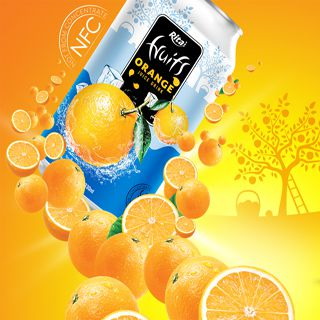 Poster Design fruit juice 330ml Printcan