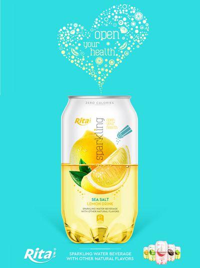 Sparkling drink with fruit flavor