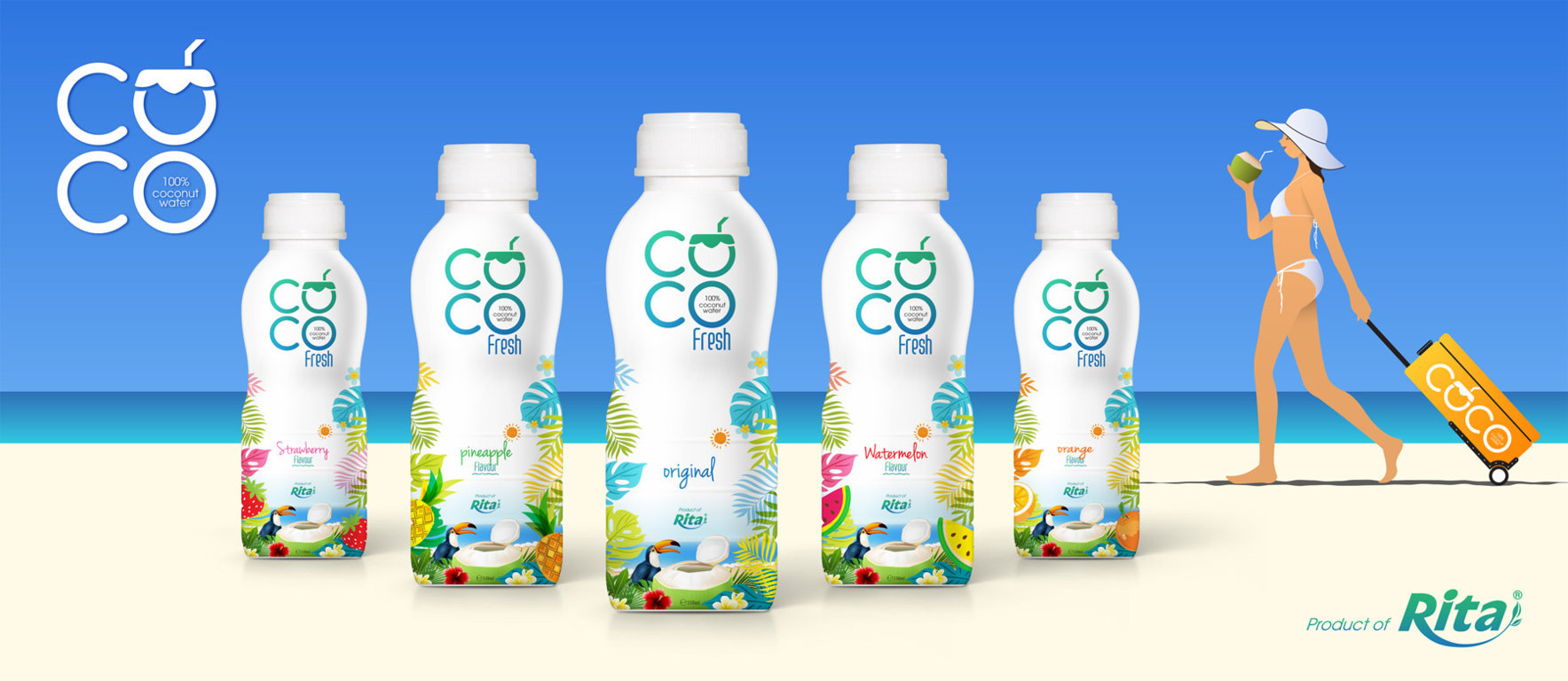 330ml Coconut water fresh with orange