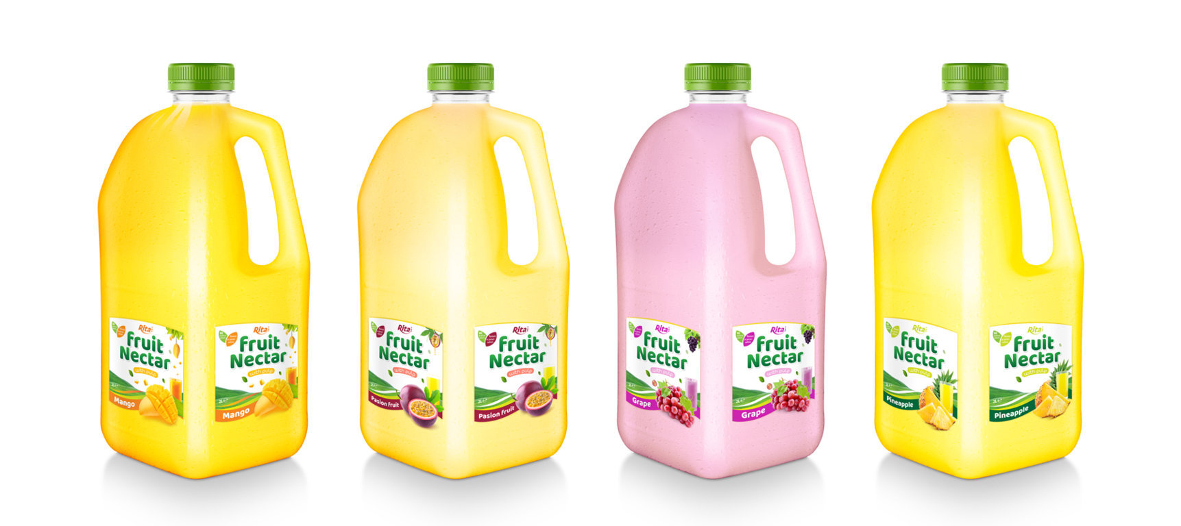 Fruit Nectar 2L with passion fruit flavor
