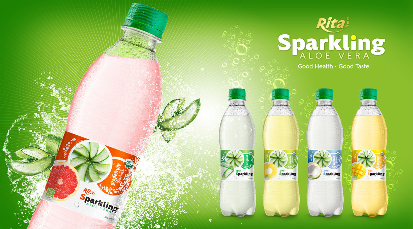 Sparkling aloe vera with grape fuit 500ml