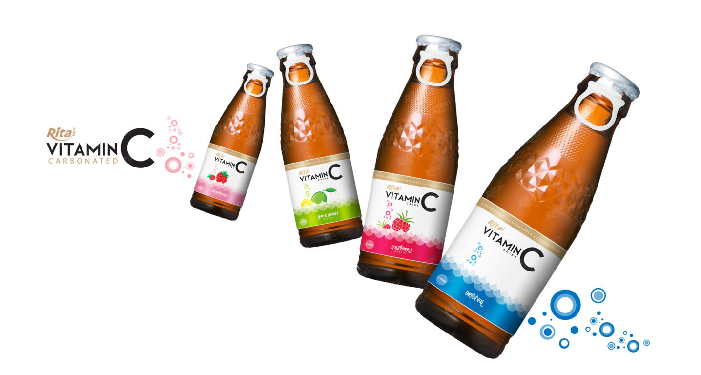 Vitamin C with strawberry 150ml ( Carbonated)