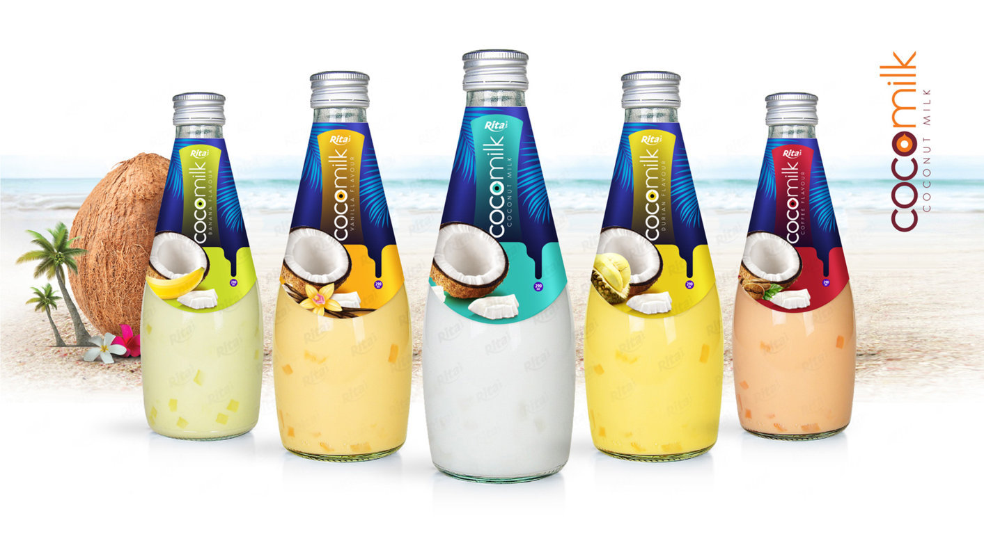 Natural Coconut milk  290ml glass bottle