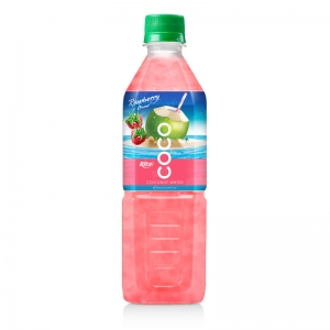 Coconut water with strawberry  flavor  500ml Pet bottle