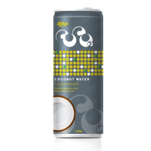 Carbonated coconut water 250ml slim can