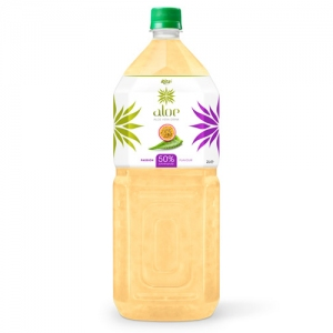 Aloe vera with passion fruit  juice 2000ml Pet Bottle