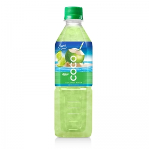Coconut water with lime flavor  500ml Pet bottle