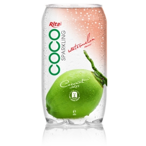 Sparking coconut water  with watermelon juice