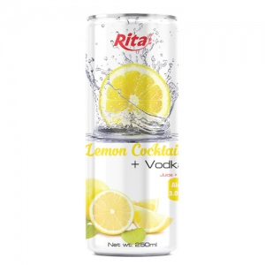 250ml slim Vodka lemon flavor
