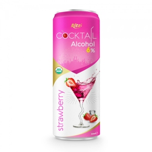 Cocktail 6% alcohol with strawberry flavour
